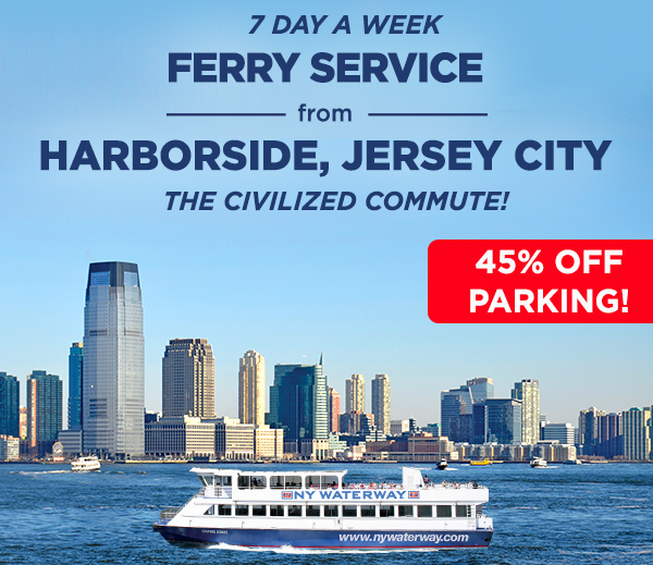 Ferry Service from Harborside, Jersey City