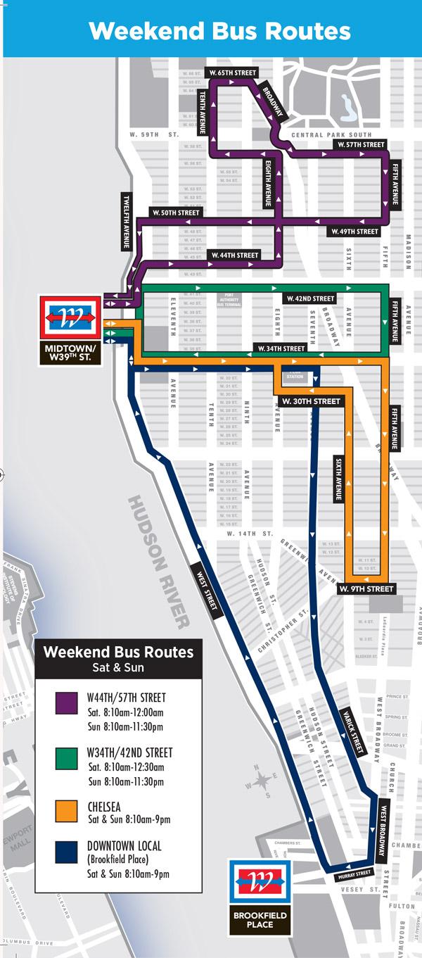 Map Of New York Waterways.5 Weekend Parking In Harborside